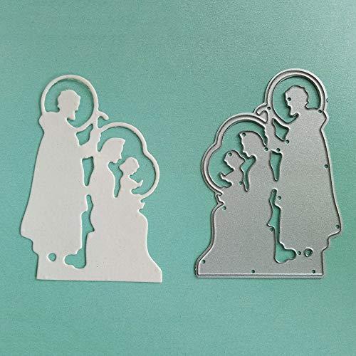 (DIY Metal Cutting Dies, Religious 3D Dies Cutting Stencil Template Moulds for DIY Scrapbook Album Paper Card)