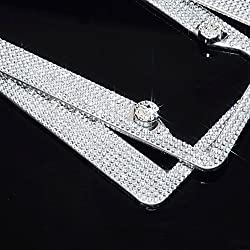 Premium Stainless Steel Crystal License Plate Frame