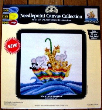DMC Needlepoint Canvas Collection - Noah's Ark Umbrella 8