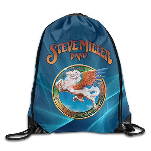 YYHU Steve Colorful Pegasus Rock Band Drawstring Backpack Bag Sack Bag - Great For Travel And Everyday ()