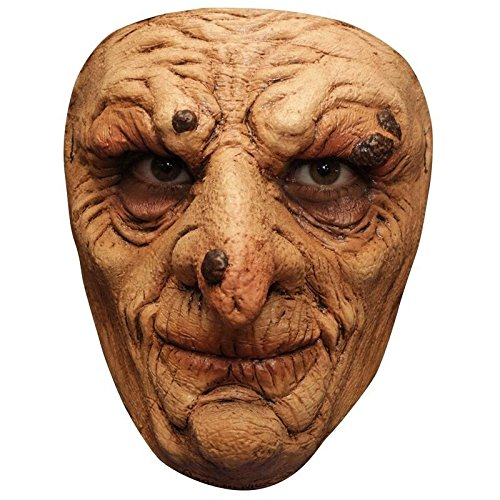 Générique Generic mahal675-Adult Latex Mask Sorcerer with Warts-One Size ()