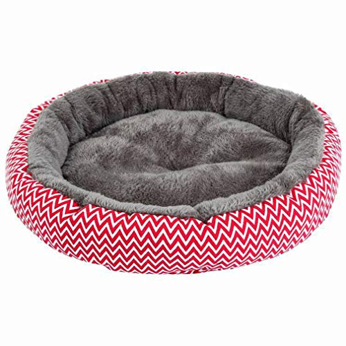 U2Paw Cat Bed Round Puppy Bed Orthopedic Soft Pet Bed Pillow Kitten Bed Washable Cat and Puppy Cushion Bed, 15.7 inches Diameter