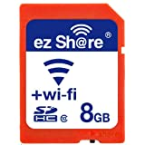 Ez Share Wifi Sd Memory Card 8 GB Class 10 2nd Generation available for DCs/DVs/DSLRs/DPF,etc¡