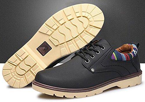 Idifu Mens Casual Scarpe Basse Basse Allacciate Basse Sneakers Basse Allacciate Nere