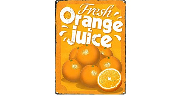 Toddrick Fresh Orange Juice Cartel de Chapa Estilo Vintage, Cocina ...
