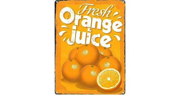 Toddrick Fresh Orange Juice Cartel de Chapa Estilo Vintage, Cocina ...