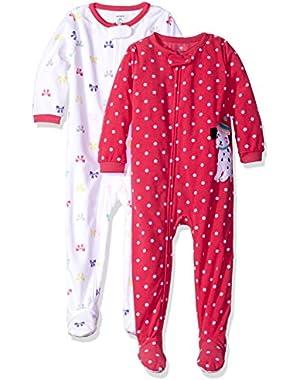 Girls' 2-Pack Fleece Pajama Set