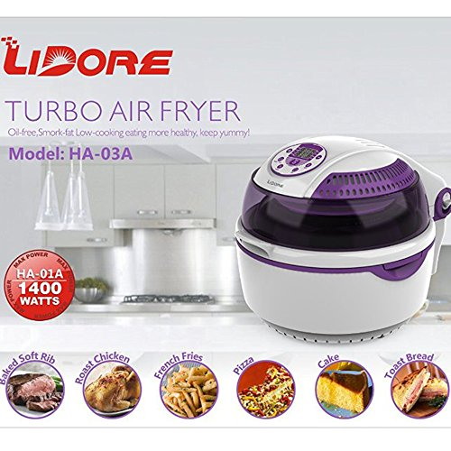8 Modes Oil Less Fryer Lavender colored Accessories product image