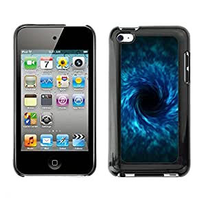 Soft Silicone Rubber Case Hard Cover Protective Accessory Compatible with Apple IPod Touch 4 - black hole sci fi blue