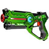 Laser tag Light Battle Active toy gun for kids - Color: green - Lazer tag battle shooting game - LBA101
