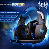 KOTION EACH G2000 Over Ear Stereo Bass Gaming Headphone Headset Earphone Headband with Mic LED Light for PC Game