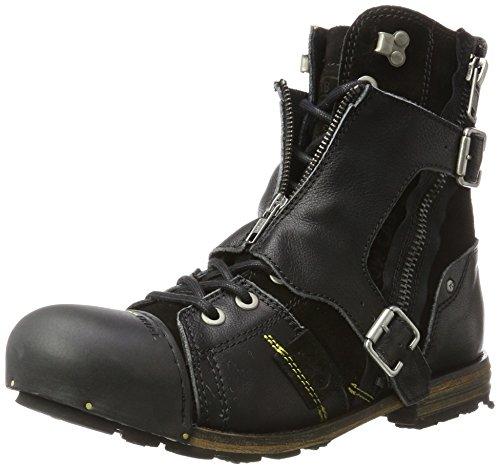 Yellow Cab Herren Industriële M Biker Boots Schwarz (zwart)