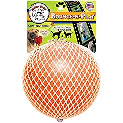 Jolly Pets 4.5-Inch Bounce-n-Play, Orange