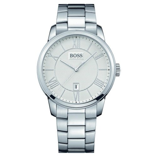 Hugo Boss White Dial Stainless Steel Quartz Men's Watch 1512976