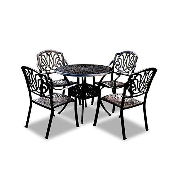 smzzz Tavolo e Sedie da Giardino Balcone Set 5 pz Mobili da Giardino Set da Pranzo Giardino Esterno,Tavolo da Giardino… 1 spesavip