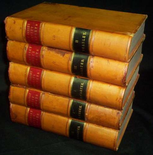 Halsted Leather - New Jersey Equity Reports 1886 Full Leather set Volumes VII, XII, XIV, XV, XVI