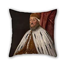 Oil Painting Jacopo Tintoretto - Doge Pietro Loredano Cushion Cases 16 X 16 Inches / 40 By 40 Cm Gift Or Decor For Home Him Kitchen Couch Deck Chair Home Theater - 2 Sides