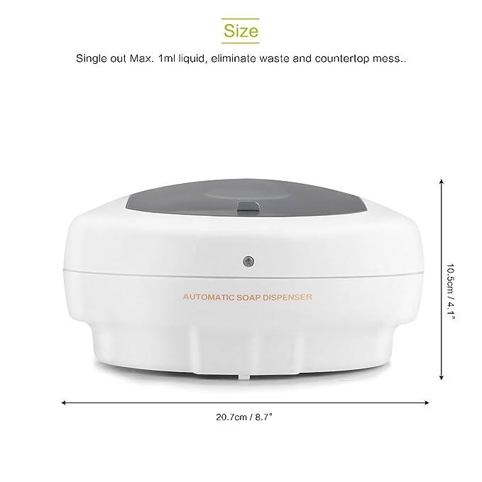 Dispensador de jabón montado en la pared Eliminación de la huella digital Loción líquida Champú automático con sensor infrarrojo 500ML Ideal para el ...