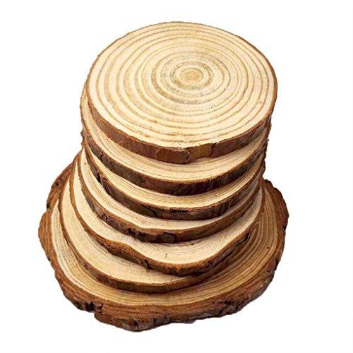 MuLuo Vintage Pine Wooden Tree Stump Bark Pastoral Online Store Photogragh Shoot Picture Props Chip Cylinder Decoration 10pcs#1 6-8cm