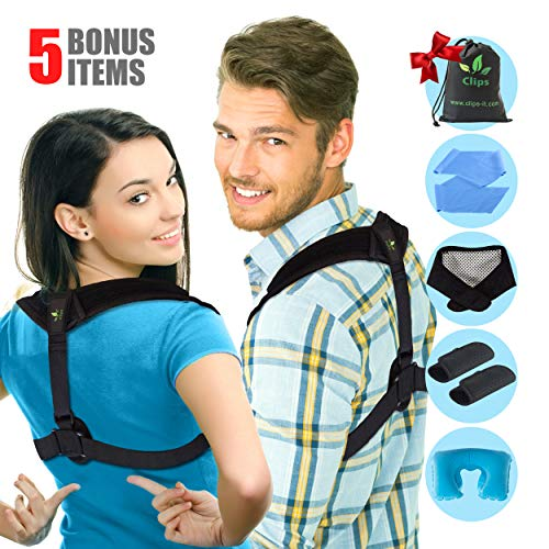 Posture Corrector for Women and Men - Upper Back and Neck Support for Natural Pain Relief - Adjustable Straightener Posture Back Brace For Clavicle Support