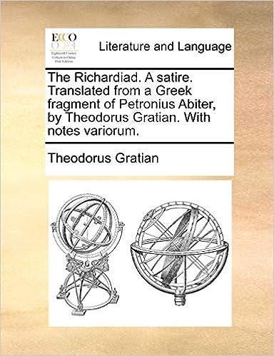Amazon Com The Richardiad A Satire Translated From A Greek