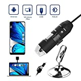 Digital USB Microscope, Gruper Portable Magnification Endoscope Mini Camera with 50-1000 Magnification for Mac/Windows PC and Android