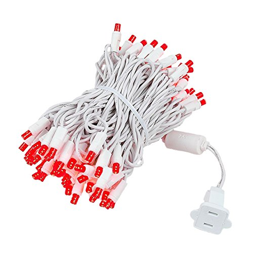 Red Led Christmas Lights White Wire in US - 1
