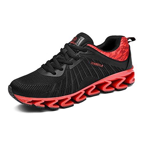 Scarpe Uomo Autunno e Inverno Plus Manicotto caldo Scarpa da corsa antiscivolo antiscivolo scarpe da uomo in cotone , Red , 39