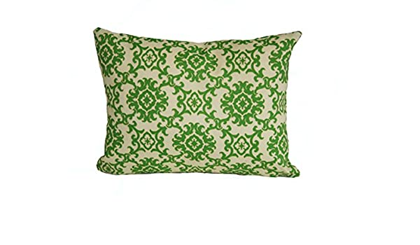 Green Rennie /& Rose Medallion Throw Pillow 12-Inch by 16-Inch