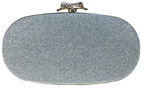 Evening Clutches Wedding Bettyhome Silver Party Fresh Women Shiny Rhinestone Bag Lady Handbags Handle Purse F66pqwYx