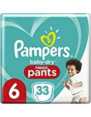 Pampers Baby-Dry Nappy Pants (15kg +) Size 6 Junior, 33 count