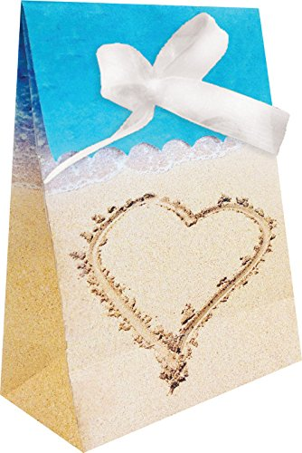 Creative Converting 087363 Favor Bags, One size, Beach Love]()