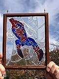 Spiderman Sun Catcher stained glass window art