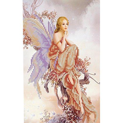 Merssavo Cross Stitch DIY Fairy Butterfly Diamond Painting Handmade Needlework Set
