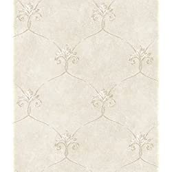 Chesapeake ARS26161 Tuscan Shimmering Ogee Wallpaper, Gold
