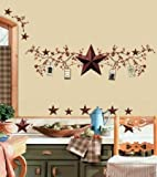 COUNTRY STARS BERRIES Wall Stickers Decal Decor Rustic
