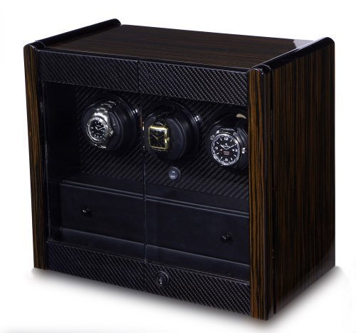 - Orbita Avanti 3 Watch Winder In Macassar/Carbon Fiber