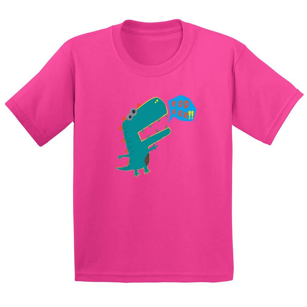 Fun Cute Youth//Toddler Kids T-Shirt Boys Shirts My Dino Roo ARR!