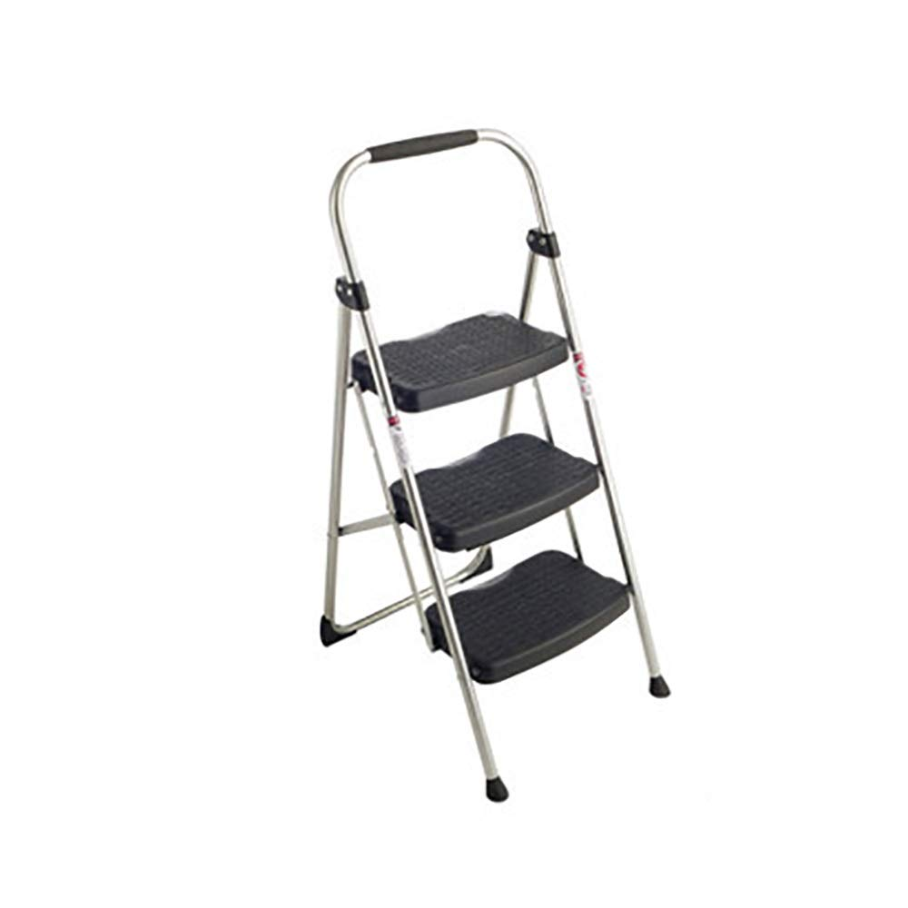 A Step Stools ZM&Ladder Stool 3 Foldable Foot Ladder Metal Bracket Widened Stool Surface Home Multi-function Ladder (color   A)