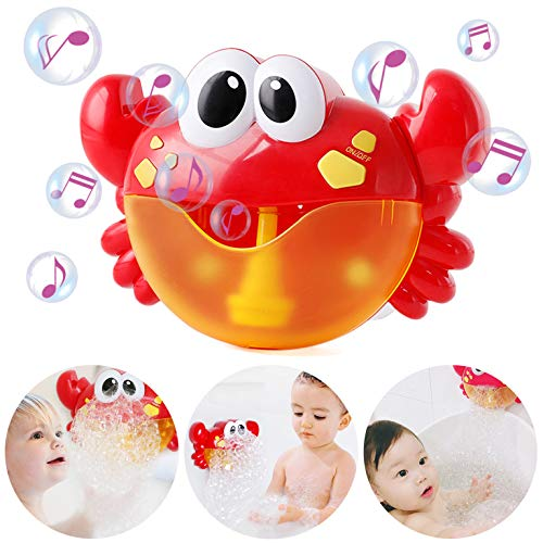 Frudaca Bubble Machine, Bubble Maker Automatic Bubble Blower Battery Operated Musical Crab Bath Bubble Toys for Kids/Baby/Boys/Girls