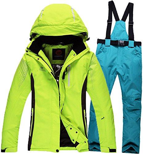 Cerniera Da Sci Tuta Blu Dyf Antivento Cappotto Donne Pantaloni Verde Impermeabile Caldo Giacca Fym Uomini Giacche gxnfBqg