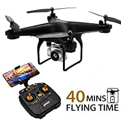 Description:Item Name: JJRC H68 Item Name: BellwetherMaterial: ABS plastic and electronic componentsQuadcopter Battery: 3.7V 1800mAh Lithium Battery (IncludedTransmitter Battery: 4 x AA Battery (NOT Included)Flying Time: about 20 minutes (Aft...