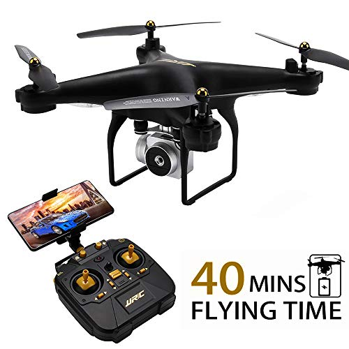 JJRC H68 RC Drone 40MINS Longer Flight Time Quadcopter with 720P Camera FPV WiFi Helicopter with 2 Batteries(20mins + 20mins), Altitude Hold, Headless Mode Remote Control Best Drone...
