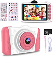 WOWGO Kids Digital Camera - 12MP Children's Selfie Camera with 3.5 Inches Large Screen for Boys and Girls,