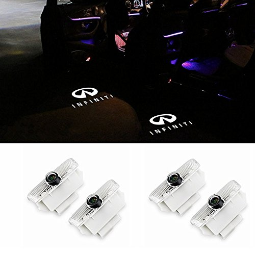 Car LED Door Logo Projector Ghost Shadow Lights Welcome Lamp for Infiniti EX FX G M Series Q50 Q70 QX70 QX50(4 Pack)
