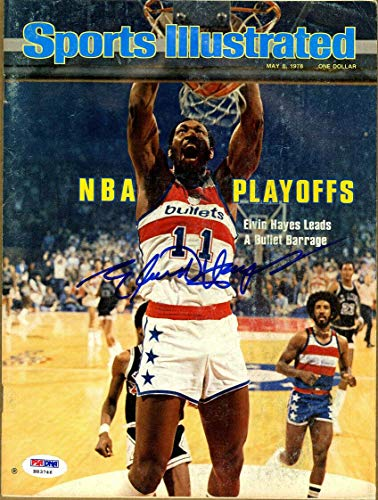 Elvin Hayes SIGNED Sports Illustrated Magazine NO LABEL 1978 AUTOGRAPHED - PSA/DNA Certified - Autographed NBA Magazines