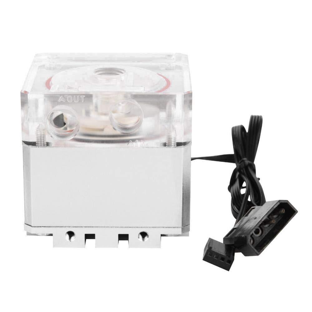 Richer-R Pompe Watercooling H Ultra silencieuse 13.5 V Filetage de vis G1 Rouge CPU Pompe de Refroidissement /à Eau 3000RPM 800L 4 syst/ème de Refroidissement PC
