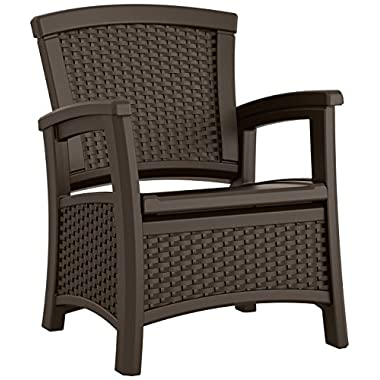 Suncast ELEMENTS® Club Chair with Storage, Java