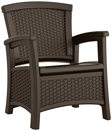 Outdoor Furniture Club (Suncast ELEMENTS Club Chair with Storage, Java)