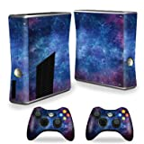 xbox 360 slim skins for console - Mightyskins Protective Vinyl Skin Decal Cover for Xbox 360 S Slim + 2 controllers wrap sticker skins Nebula